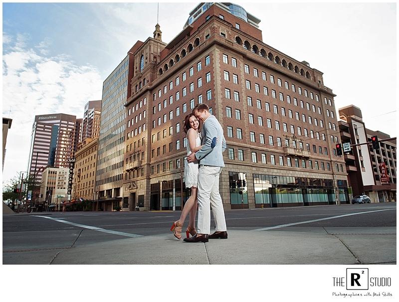 Jen & Bobby | Downtown Phoenix E-Sesh