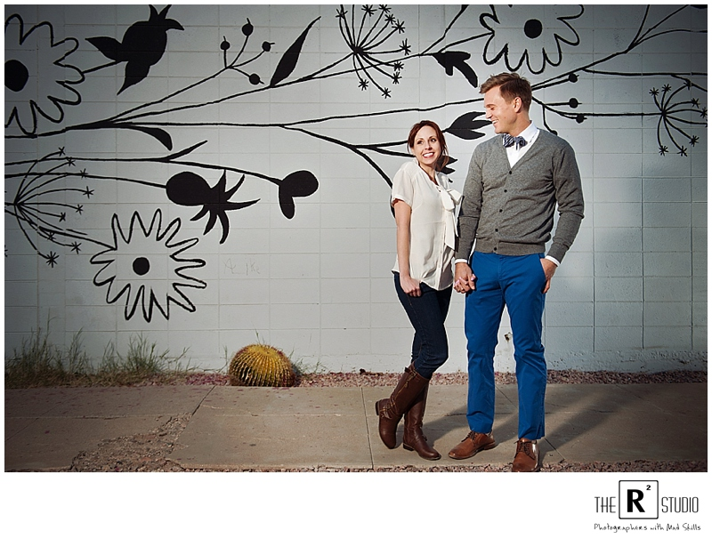 graffiti engagement session in phoenix