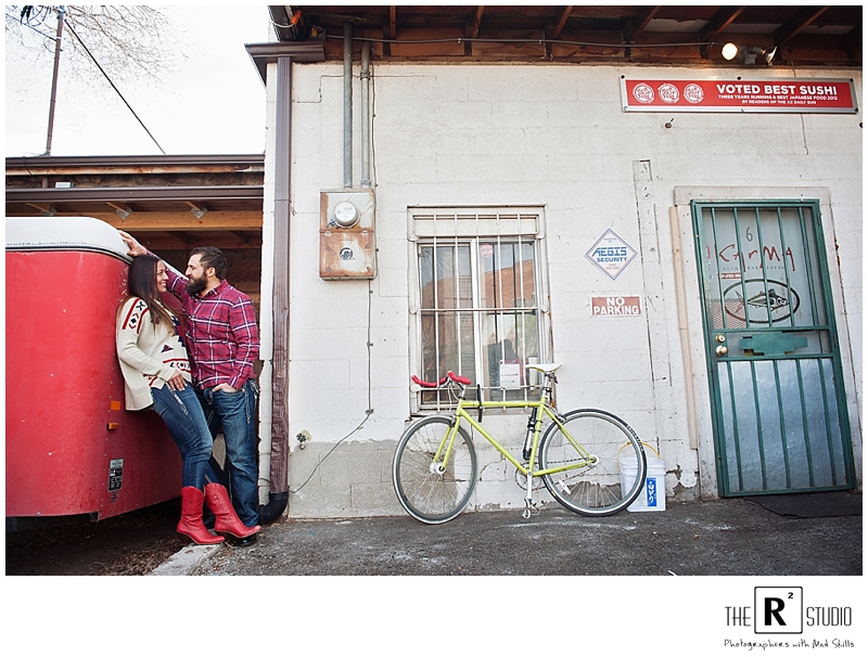 downtown flagstaff engagement photography