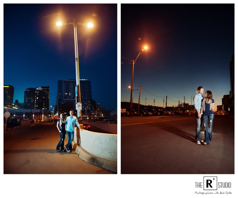 phoenix downtown city lights engagement session