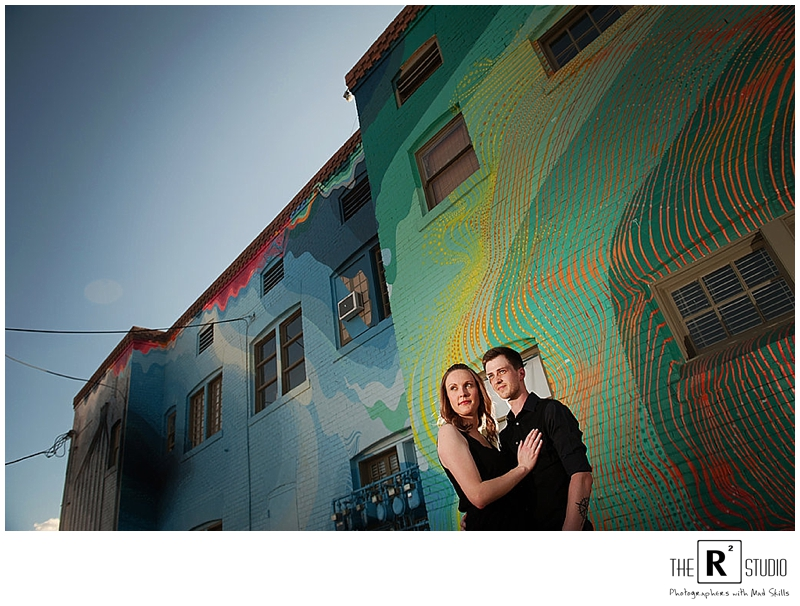 Jenn & Spencer | Retro Downtown Phoenix Engagement | Phoenix Engagement Photos