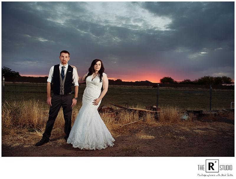 phoenix backyard wedding sunset