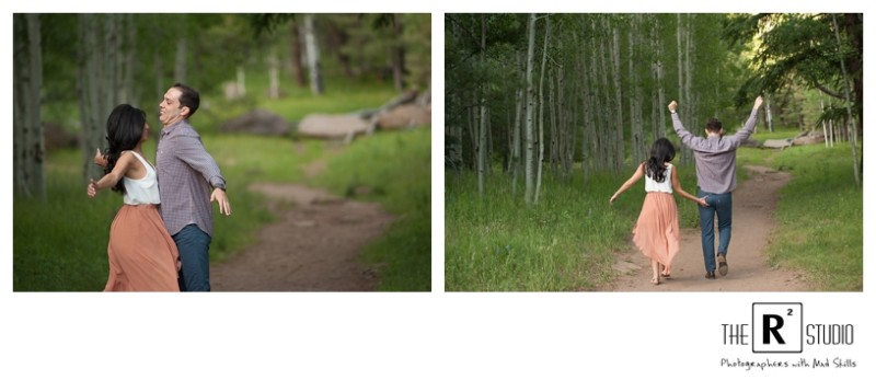 flagstaff  mountain summer engagement session