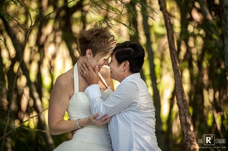 same sex Oahu wedding photographers
