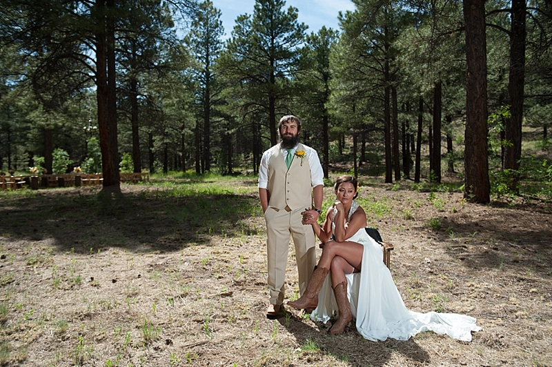Ella & Sergey | Flagstaff Backyard Wedding